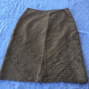 The Limited Laser Cut Suede Like Skirt